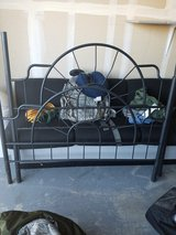 Black wrought iron bed frame/ full in Travis AFB, California