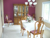 Dining room ensemble - solid oak in Fort Gordon, Georgia