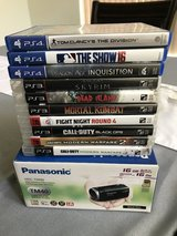 PS4 & PS3 games w/ Panasonic camcorder in Travis AFB, California