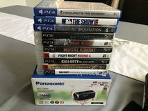 Camcorder w/ PS4 & PS3 games in Travis AFB, California
