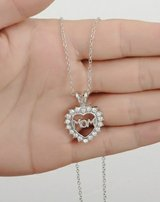 Mom Crystal Pendant Silver Necklace in Watertown, New York