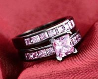 5.3ct Black Gold Filled Rings size 6 in Watertown, New York