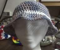 Variegated purple cloche with white band in San Antonio, Texas