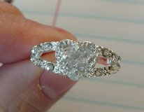 Silver Plated Crystal Heart Shaped Ring Size 8 in Watertown, New York