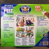 Felt Story Board with 47 Nursery Rhyme Pieces in Camp Lejeune, North Carolina