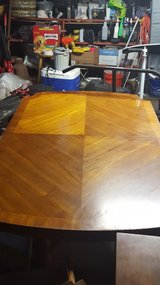 Large Dining Table with matching chairs and extension leaves (Real Wood) - 10 Pieces in Kingwood, Texas