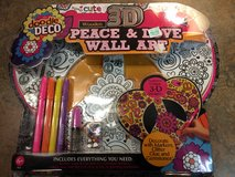 Peace & Love wall art - brand new in package in Naperville, Illinois