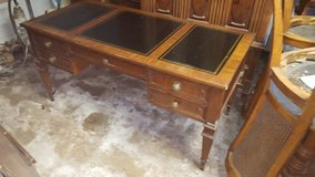Leather Panel Top Desk with Highback Chair (Real Wood) in Kingwood, Texas