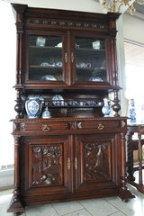 gorgeous Henri II style hutch with 3 dimensional carvings in Wiesbaden, GE