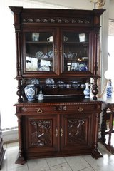 gorgeous Henri II style hutch with original glass in Spangdahlem, Germany