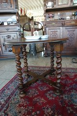 beautiful coffee table with barley twist stand in Spangdahlem, Germany