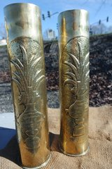 set of 2 WWI shells Trench Art in Wiesbaden, GE