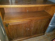 Oak / Display TV Console Stand in Clarksville, Tennessee