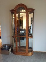 7 Foot Curio Cabinet Oak Finish in Naperville, Illinois