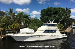1988, 65? Hatteras 65 Convertible Enclosed Bridge For Sale in MacDill AFB, FL