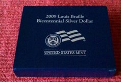 2009P Louis Braille Bicentennial Uncirculated Silver Dollar in Fort Leonard Wood, Missouri