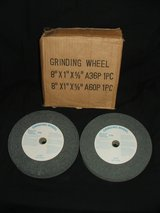 """Lot Of 2 Grinding Wheels NEW ~ A36P & A60P ~ 8""""x1"""" x 5/8"""" in Naperville, Illinois"""