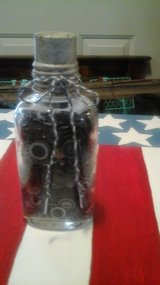Antique Medicine Bottle Filled With Vintage Buttons in Batavia, Illinois