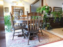 "Dining room/kitchen table with 2 15"" leaves and 6 chairs in Glendale Heights, Illinois"