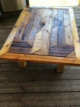 Solid wood rustic coffee table in Spring, Texas