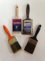 "4 New 3"" Paint Brushes in Glendale Heights, Illinois"