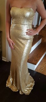 Gold Sequence Long Dress in Joliet, Illinois