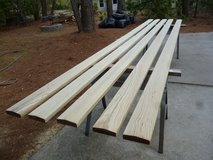 Five 16' 2x6 #1 treated railings. Kiln dried, beveled top, no knots in Beaufort, South Carolina