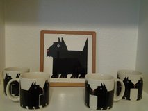 Scottish Terrier  Coffee Cups & Trivet in Coldspring, Texas