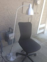 Computer chair and floor lamp in Vacaville, California