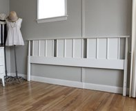 king headboard. mcm white . king bed in Morris, Illinois