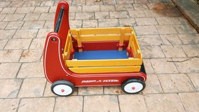 Radio Flyer Classic Red Walker Wagon with bar and wood sides in Naperville, Illinois