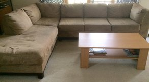 Sectional couch with ottoman in Naperville, Illinois