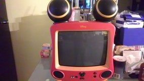 Mickey Mouse TV with remote in Warner Robins, Georgia