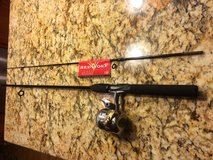 Brand new never used 2 piece Rod with Reel by Shakespeare. in Naperville, Illinois