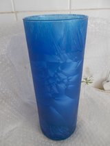 Spanish Made Vase with blue frosted glass in Lakenheath, UK