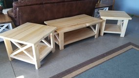 Farmhouse end table, sofa table, coffee table in Cadiz, Kentucky