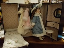 "Rare- Bleuette 18"" Porcelain Doll, complete with Trunk, Wardrobe, more in Wilmington, North Carolina"