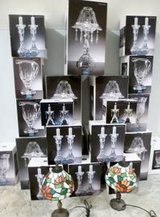 Royal Ltd Lead Crystal Candle Holders, Pitchers, Vases (all still in boxes) great gifts! in Rosenberg, Texas