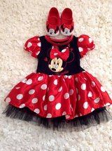 Disney Minnie Mouse outfit 12 months with matching Shoes in Fort Campbell, Kentucky