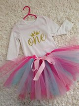 One Birthday Outfit with Tutu Skirt and Headband in Fort Campbell, Kentucky