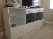 White cabinet along with tv long cabinet in Saint Petersburg, Florida