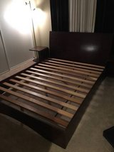 Queen Size Platform Bed with 2 Night Stands in Lake Elsinore, California
