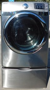 FRONT LOAD SAMSUNG STEAM GAS DRYER- SILVER WITH WARRANTY(FINANCING) in Camp Pendleton, California