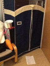 "Dark Blue Wardrobe 36"" with fabric cover in Stuttgart, GE"
