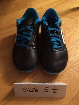 Adidas Black/Blue Soccer Cleats Shoes - Size 5.5 (Boys) in Glendale Heights, Illinois