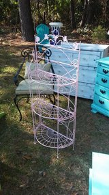 Outdoor plant stand in Camp Lejeune, North Carolina