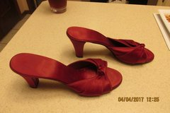 Red Satiny Heels - Great For A Costume - Size 6 1/2 in Kingwood, Texas