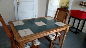 Dining Table with Tile top and 2 Chair's in Camp Lejeune, North Carolina
