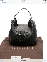 Authentic Gucci blk handbag pls text 7607302500 in Miramar, California