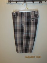Young Men's Chino-Style Plaid Flat Front Shorts - Size 20R in Glendale Heights, Illinois